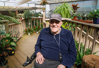 Owner of Mendon's Nursery and experience horticulturist Jerry Mendon in the houseplant greenhouse March 13, 2017 at Mendon's Nursery in Paradise, California. (Emily Bertolino -- Enterprise-Record)