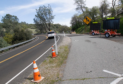 Construction crews started work Monday on a $29 million project to straighten a 1.8-mile stretch of State Highway 191 south of Paradise March 14, 2017  in Paradise, California. (Emily Bertolino -- Enterprise-Record)