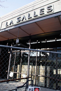 A fence blocks off LaSalles on the 200 block of Broadway as remodeling construction continues Tuesday, Feb. 27, 2018, in Chico, California. (Dan Reidel -- Enterprise-Record)