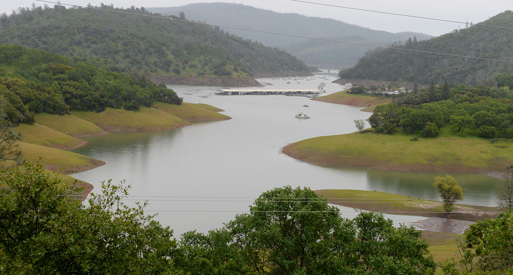 . Lake Oroville is seen near the Forever Resorts Limesaddle Marina from Nelson Bar road Tuesday April 11, 2017. (Bill Husa -- Enterprise-Record)