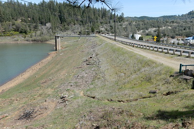 The Magalia Reservoir Dam is seen in Magalia, Calif. Friday April 13, 2018. (Bill Husa -- Enterprise-Record)