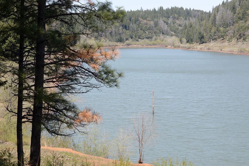 . Magalia Reservoir is seen in Magalia, Calif. Friday April 13, 2018. (Bill Husa -- Enterprise-Record)