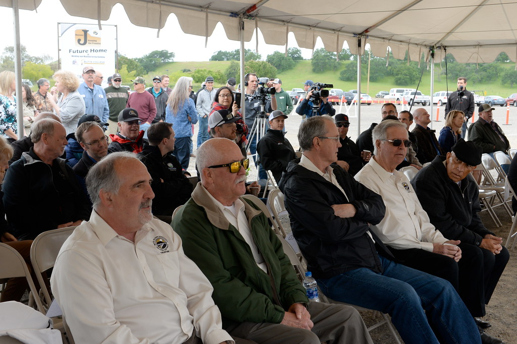 . A crowd gathers during a groundbreaking ceremony at Butte College for the new 1.8 million welding and manufacturing facility Wednesday April 18, 2018.  (Bill Husa -- Enterprise-Record)