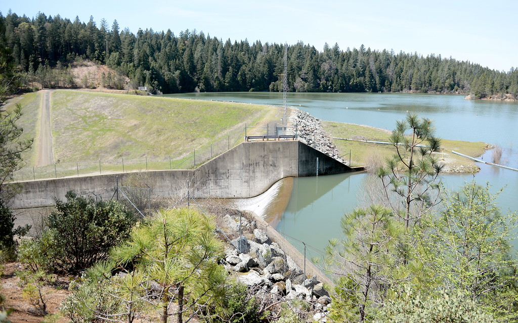 . A full Paradise Lake is seen in Magalia, Calif. Friday April 13, 2018. (Bill Husa -- Enterprise-Record)