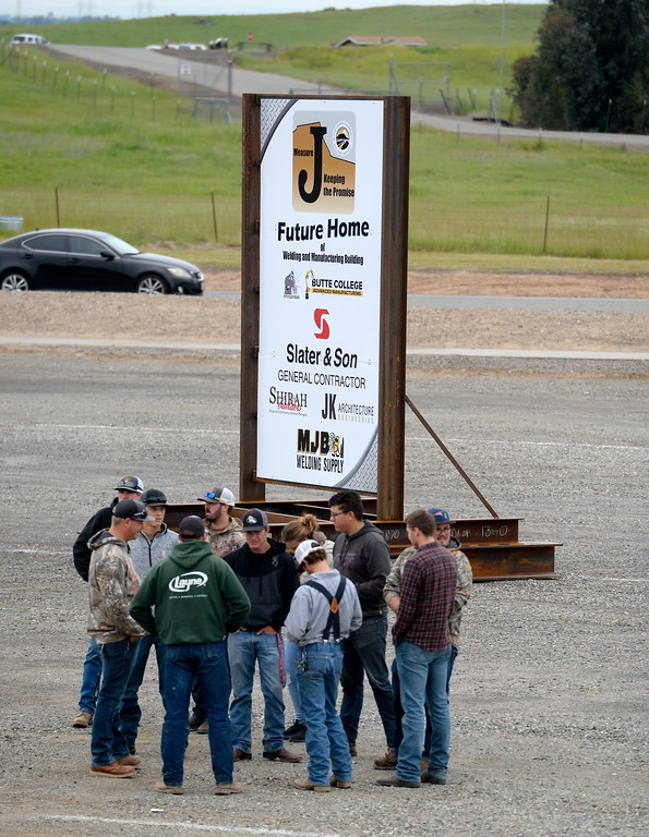 . during a groundbreaking ceremony at Butte College for the new 1.8 million welding and manufacturing facility Wednesday April 18, 2018.  (Bill Husa -- Enterprise-Record)
