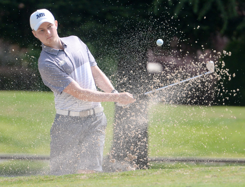 . during CSUC Men\'s CCAA Championship golf at Butte Creek Country Club in Chico, Calif. Tues. April 24, 2018. (Bill Husa -- Enterprise-Record)