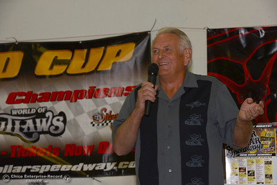Silver Dollar Speedway owner Dennis Gage previews the upcoming season Thursday, March 31, 2016, at a in Chico, California. (Dan Reidel -- Enterprise-Record)