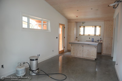 High ceilings, polished concrete floor and a walnut countertop are some of the features of three small houses being built by Laurie Norton Owner/Builder along Humboldt Road in Chico, Calif. Tues. April 3, 2018. (Bill Husa -- Enterprise-Record)