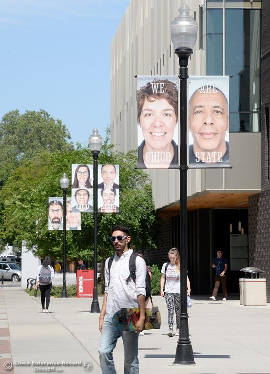 . Students roam the CSUC campus Tuesday May 8, 2018. (Bill Husa -- Enterprise-Record)