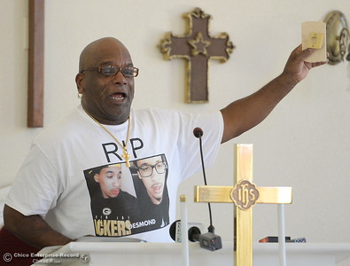 Approx. 25 people attended a press conference to discuss the facts of the Desmond Phillips case at the Bethel AMA Church in Chico, Calif. Mon. May 22, 2017. (Bill Husa -- Enterprise-Record)