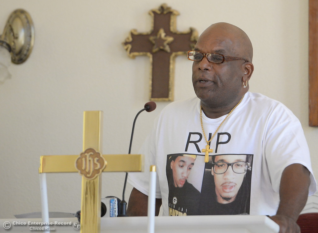 . Approx. 25 people attended a press conference to discuss the facts of the Desmond Phillips case at the Bethel AMA Church in Chico, Calif. Mon. May 22, 2017. (Bill Husa -- Enterprise-Record)