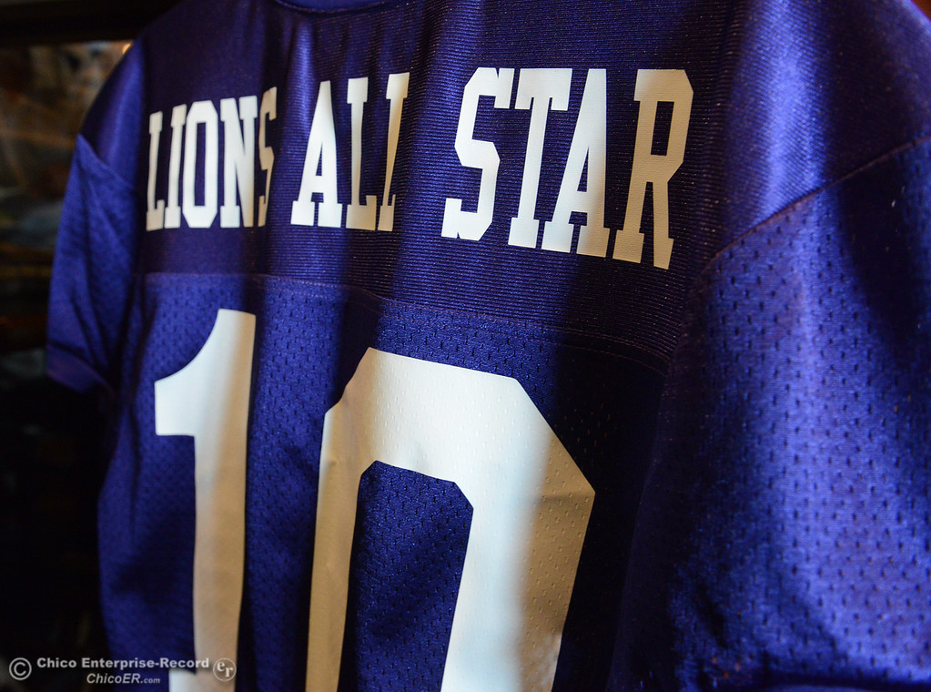 . Players and coaches meet Thursday, June 8, 2017, for the Lions All-Star football game kickoff luncheon at Round Table Pizza on Pillsbury Road in Chico, California. (Dan Reidel -- Enterprise-Record)