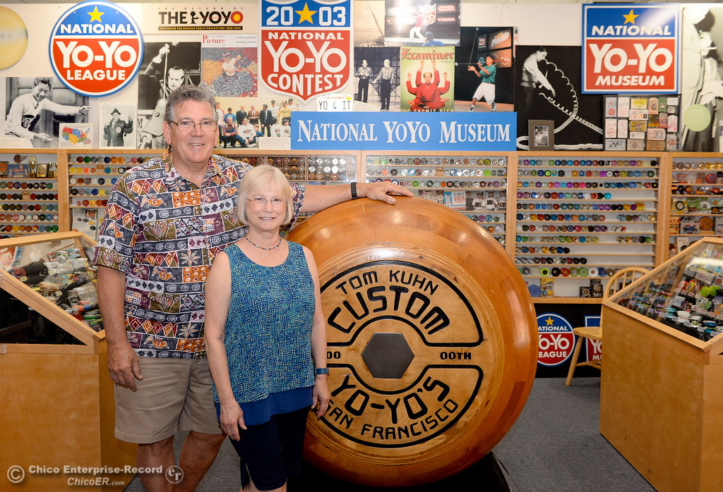 . Bird In Hand store owners Bob and Barbara Malowney smile inside of their store on Broadway Street in downtown Chico, Calif. Tues. June 6, 2017. They were honored by the Chico Chamber for 35 years in business.(Bill Husa -- Enterprise-Record)