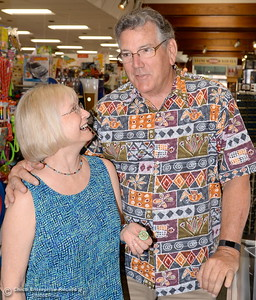 Bird In Hand store owners Bob and Barbara Malowney smile inside of their store on Broadway Street in downtown Chico, Calif. Tues. June 6, 2017. They were honored by the Chico Chamber for 35 years in business.(Bill Husa -- Enterprise-Record)