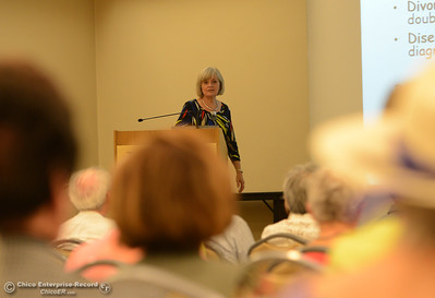 "Connie Massie, licensed clinical social worker, gives a presentation titled ""Coping with Emotional Transitions of Aging"" Thursday, June 9, 2016, at Enloe Conference Center in Chico, California. (Dan Reidel -- Enterprise-Record)"