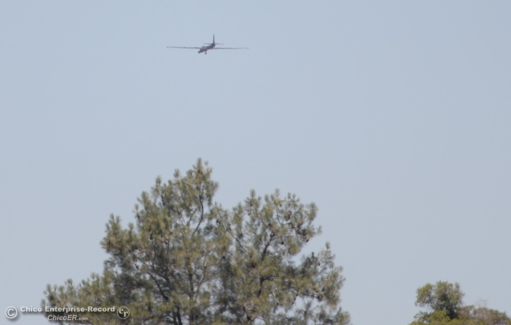 . A plane that might be a U2 is seen in Upper Bidwell Park in Chico, Calif. Tues. June 13, 2017. (Bill Husa -- Enterprise-Record)
