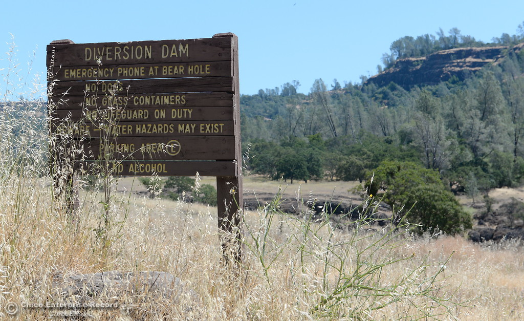 . A sign for the Diversion Dam is seen in Upper Bidwell Park in Chico, Calif. Tues. June 13, 2017. The idea of a linked, non-motorized trail system in California has been discussed for years, but the idea gained momentum last month during a firety-ever conference held in Chico.(Bill Husa -- Enterprise-Record)