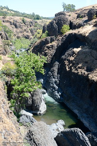 Big Chico Creek is seen along the Yahi Trail from the edge of the cliffs between the Diversion Dam and Salmon Hole in Upper Bidwell Park in Chico, Calif. Tues. June 13, 2017. The idea of a linked, non-motorized trail system in California has been discussed for years, but the idea gained momentum last month during a firety-ever conference held in Chico.(Bill Husa -- Enterprise-Record)