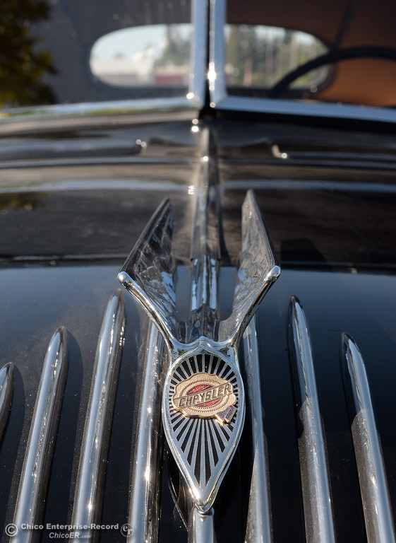 . A 1934 Chrysler Airflow Coupe owned by Phil Putnam of Orland is seen in Chico, Calif. Tues. May 29, 2018. The car, valued at roughly $100,000 will be on display along with about 30 other Airflow\'s during the Airflow National meeting held in downtown Chico, Calif. June 19th through the 23rd. Putnam said his Airflow is one of only 8-10 of these cars that remain in existence. (Bill Husa -- Enterprise-Record)