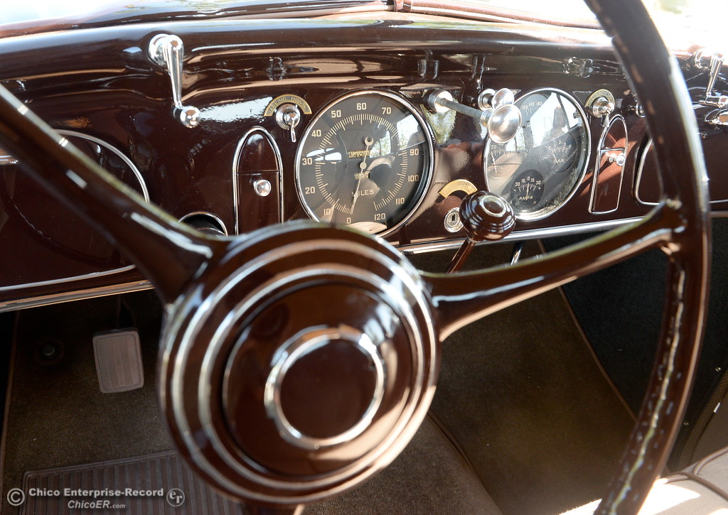 . The interior of a 1934 Chrysler Airflow Coupe owned by Phil Putnam of Orland is seen in Chico, Calif. Tues. May 29, 2018. The car, valued at roughly $100,000 will be on display along with about 30 other Airflow\'s during the Airflow National meeting held in downtown Chico, Calif. June 19th through the 23rd. Putnam said his Airflow is one of only 8-10 of these cars that remain in existence. (Bill Husa -- Enterprise-Record)