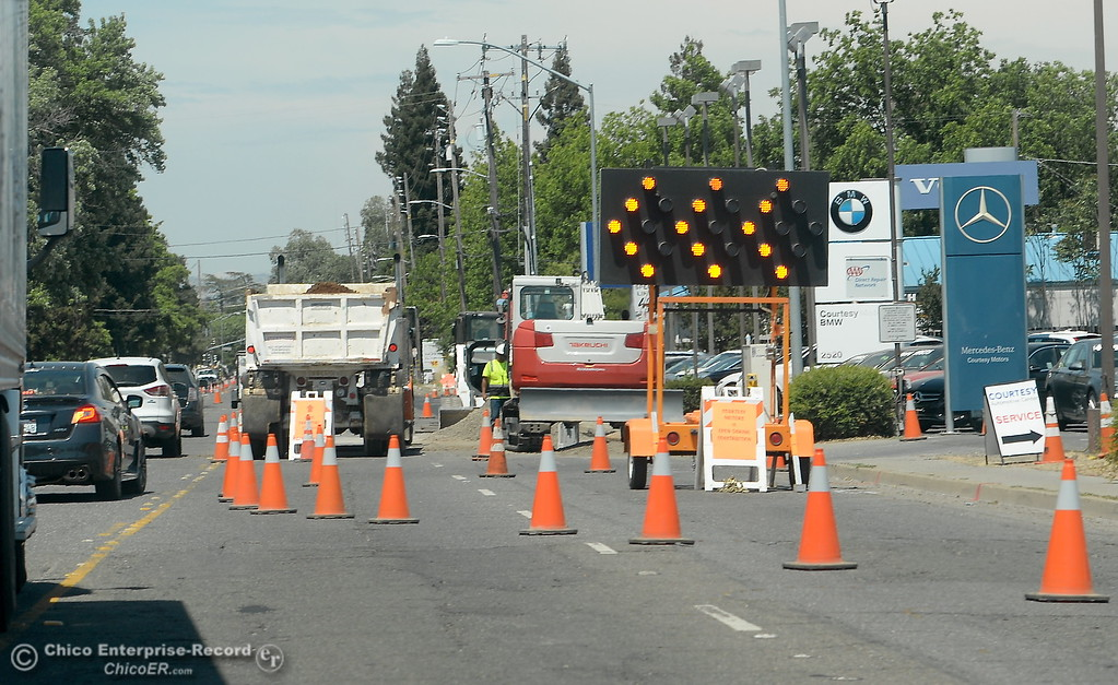 . Construction continues in various places along Cohassett Road in Chico, Calif. Tuesday May 15, 2018. (Bill Husa -- Enterprise-Record)