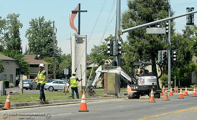Construction continues in various places along Cohassett Road in Chico, Calif. Tuesday May 15, 2018. (Bill Husa -- Enterprise-Record)