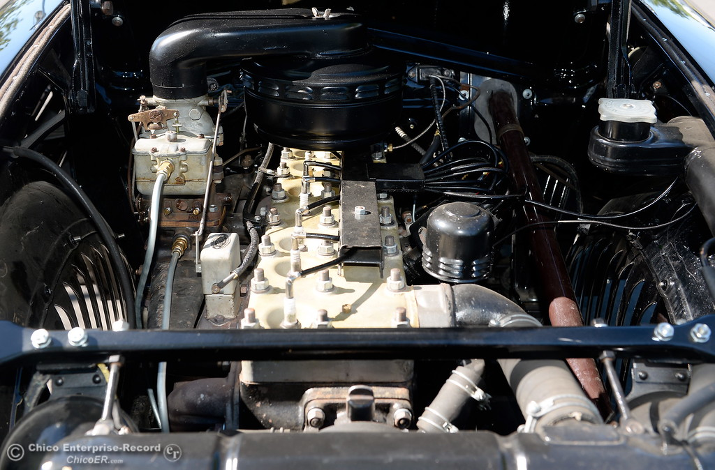 . The engine of a 1934 Chrysler Airflow Coupe owned by Phil Putnam of Orland is seen in Chico, Calif. Tues. May 29, 2018. The car, valued at roughly $100,000 will be on display along with about 30 other Airflow\'s during the Airflow National meeting held in downtown Chico, Calif. June 19th through the 23rd. Putnam said his Airflow is one of only 8-10 of these cars that remain in existence. (Bill Husa -- Enterprise-Record)