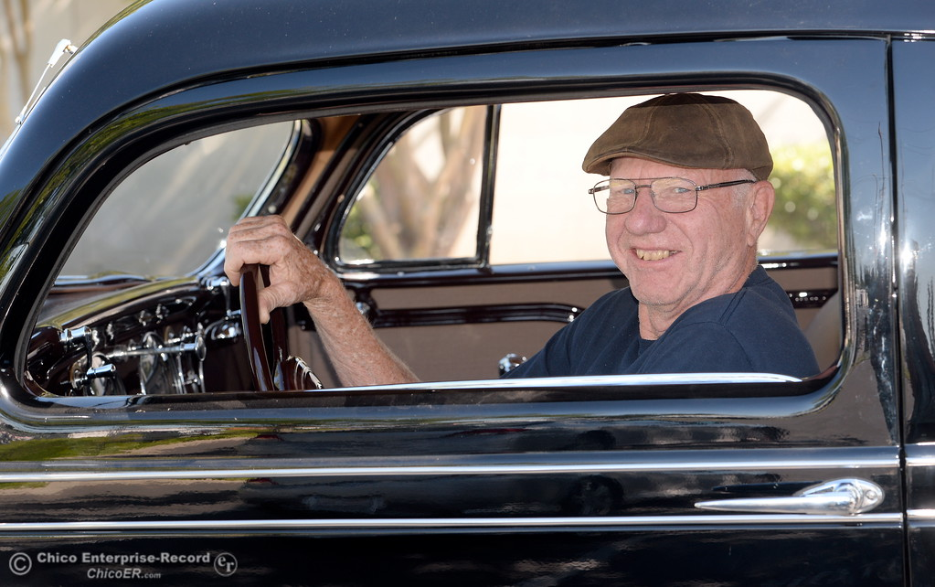 . Phil Putnam of Orland smiles inside of his 1934 Chrysler Airflow Coupe in Chico, Calif. Tues. May 29, 2018. The car, valued at roughly $100,000 will be on display along with about 30 other Airflow\'s during the Airflow National meeting held in downtown Chico, Calif. June 19th through the 23rd. Putnam said his Airflow is one of only 8-10 of these cars that remain in existence. (Bill Husa -- Enterprise-Record)