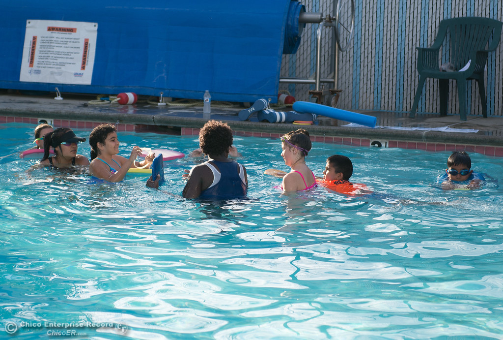 . Kids have swimming lessons in the pool at the Oroville YMCA, May 17, 2018,  in Oroville, California. (Carin Dorghalli -- Enterprise-Record)