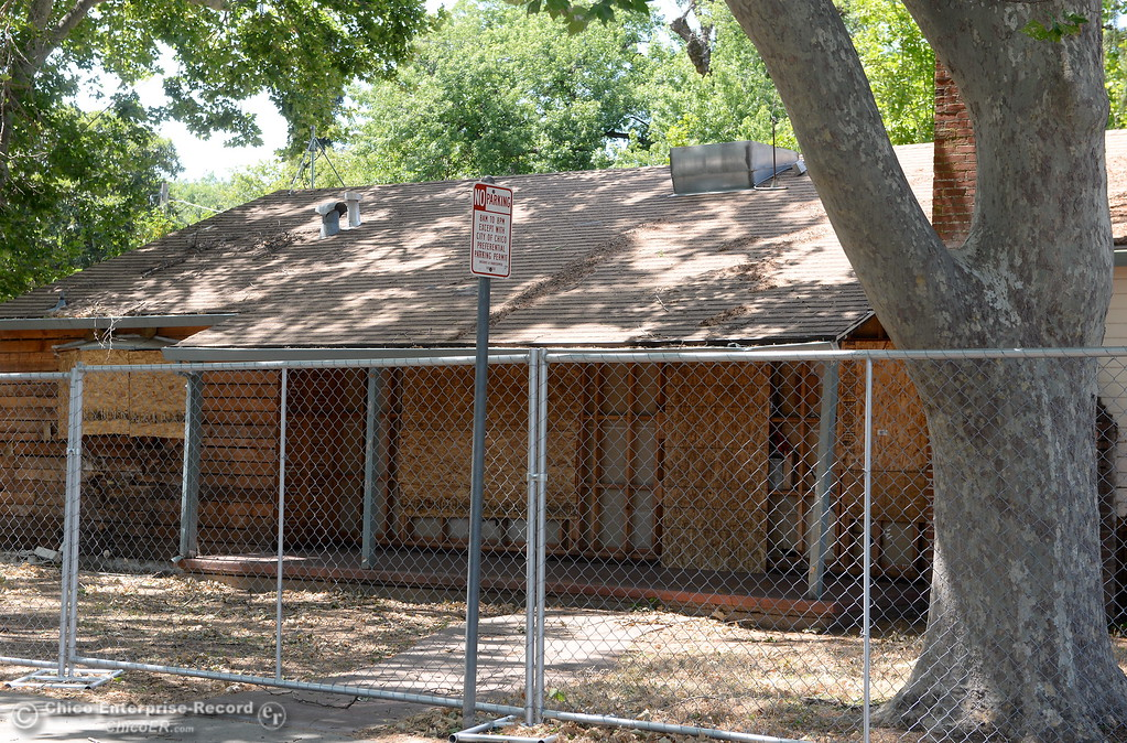 . Homes along Warner Street are fenced off and scheduled for demolition as construction around Chico State University is underway in Chico, Calif. Wednesday May 30, 2018. (Bill Husa -- Enterprise-Record)
