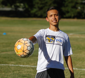 Hamilton High School soccer player Salvador Villegas is moving to Portland to play for the Portland Timbers FC Academy Thursday July 6, 2017 in Chico, California.  (Emily Bertolino -- Enterprise-Record)