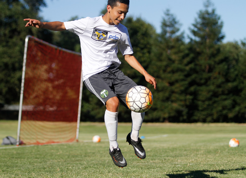 . Hamilton High School soccer player Salvador Villegas is moving to Portland to play for the Portland Timbers FC Academy Thursday July 6, 2017 in Chico, California.  (Emily Bertolino -- Enterprise-Record)