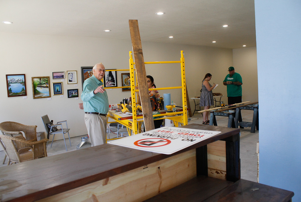 . Work continues to set up the new harm reduction and legal center Friday July 7, 2017 in Chico, California.  (Emily Bertolino -- Enterprise-Record)