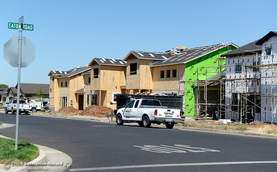 Residential construction under way along Eaton Road in Chico, Calif. Monday, July 9, 2018. (Bill Husa -- Enterprise-Record)