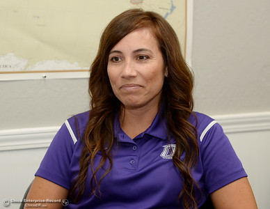 Oroville High School Principal Cristi Tellachea talks about her excitement over the start of the school year during an interview at her office in Oroville, Calif. Wednesday, July 11, 2018.  (Bill Husa -- Enterprise-Record)