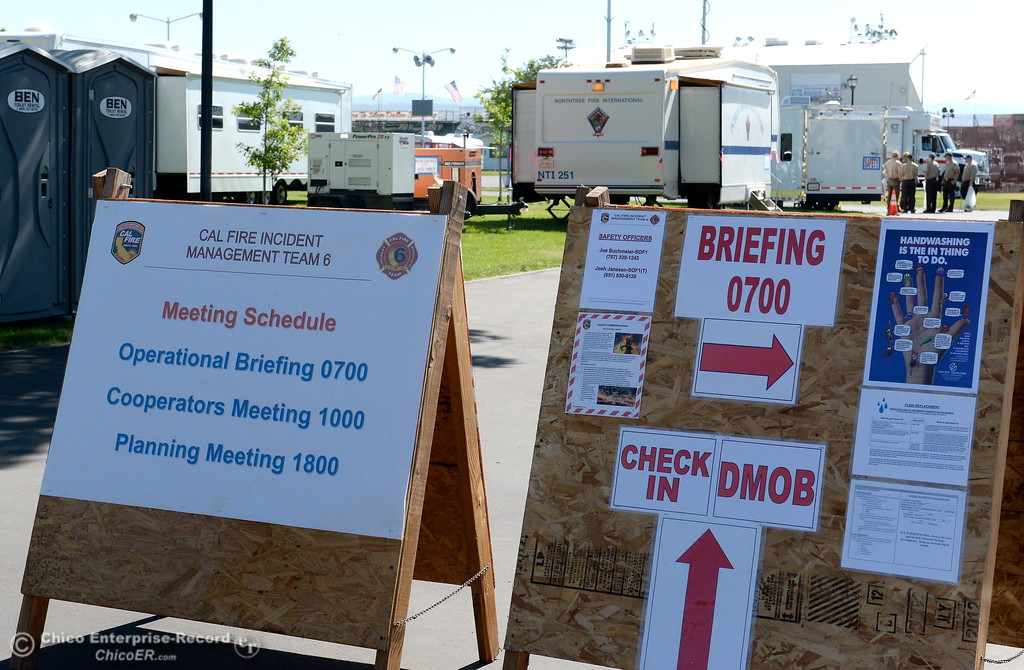 . at the Silver Dollar Fair Incident Command area for the Wall Fire near Oroville, Calif. Mon. July 10, 2017. (Bill Husa -- Enterprise-Record)