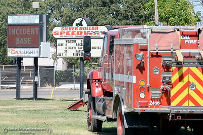 The Silver Dollar Fairgrounds serve as the Incident Base area for the Wall Fire near Oroville, Calif. Mon. July 10, 2017. (Bill Husa -- Enterprise-Record)
