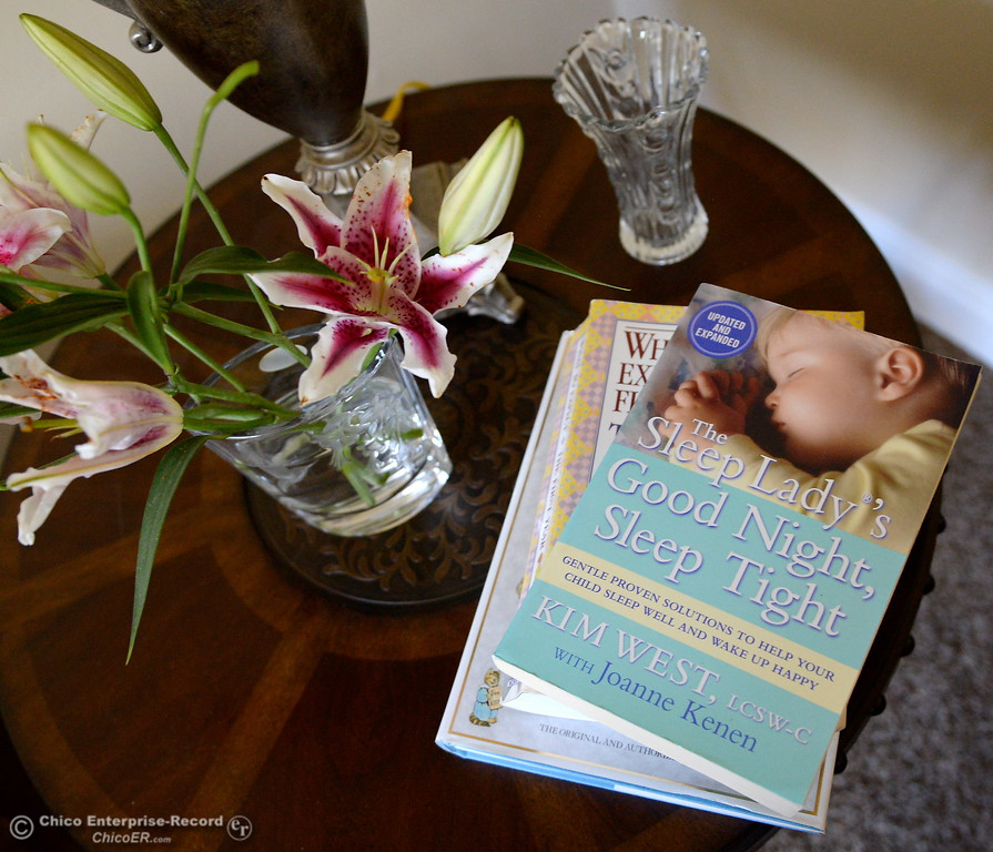 . A Lily in a vase fittingly sits beside a book for new mothers seen during a tour of the Lily House in Chico, Calif. Thurs. July 13, 2017. Lily House is the Jesus Center\'s new home for pregnant mothers/mothers with newborns. (Bill Husa -- Enterprise-Record)