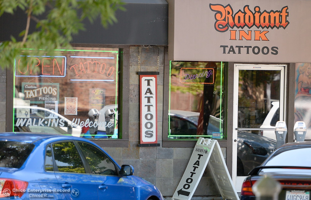 . Radiant Ink Tattoos on W. Fisrts Street in Chico, Calif. Thurs. July 20, 2017.  (Bill Husa -- Enterprise-Record)