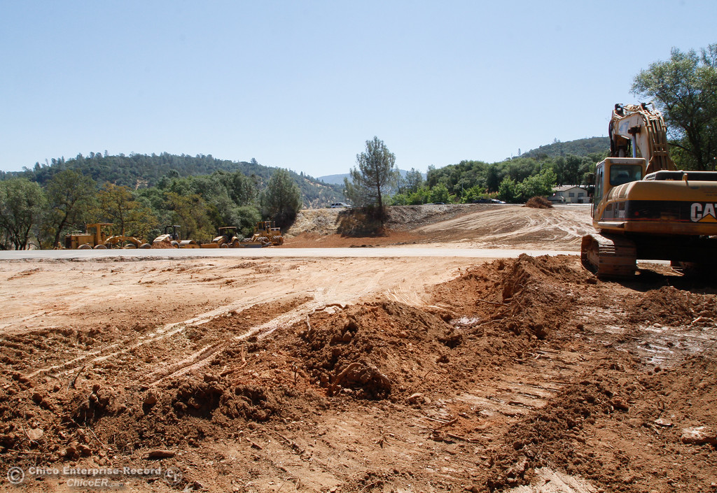 . Work has begun to make space for 50 more vehicles or trailers at Lime Saddle Marina Saturday July 29, 2017 in Paradise, California. (Emily Bertolino -- Enterprise- Record)