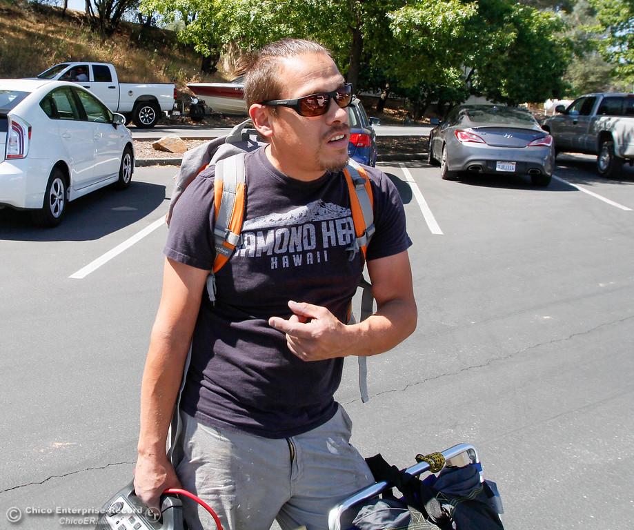 . Wayne White of Magalia says the parking lot is always overcrowded Saturday July 29, 2017 in Paradise, California. (Emily Bertolino -- Enterprise- Record)