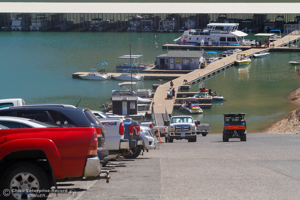 . It\'s a busy day on the lake and it\'s just going to get more busy visitors say Saturday July 29, 2017 at Lime Saddle Marina in Paradise, California. (Emily Bertolino -- Enterprise- Record)