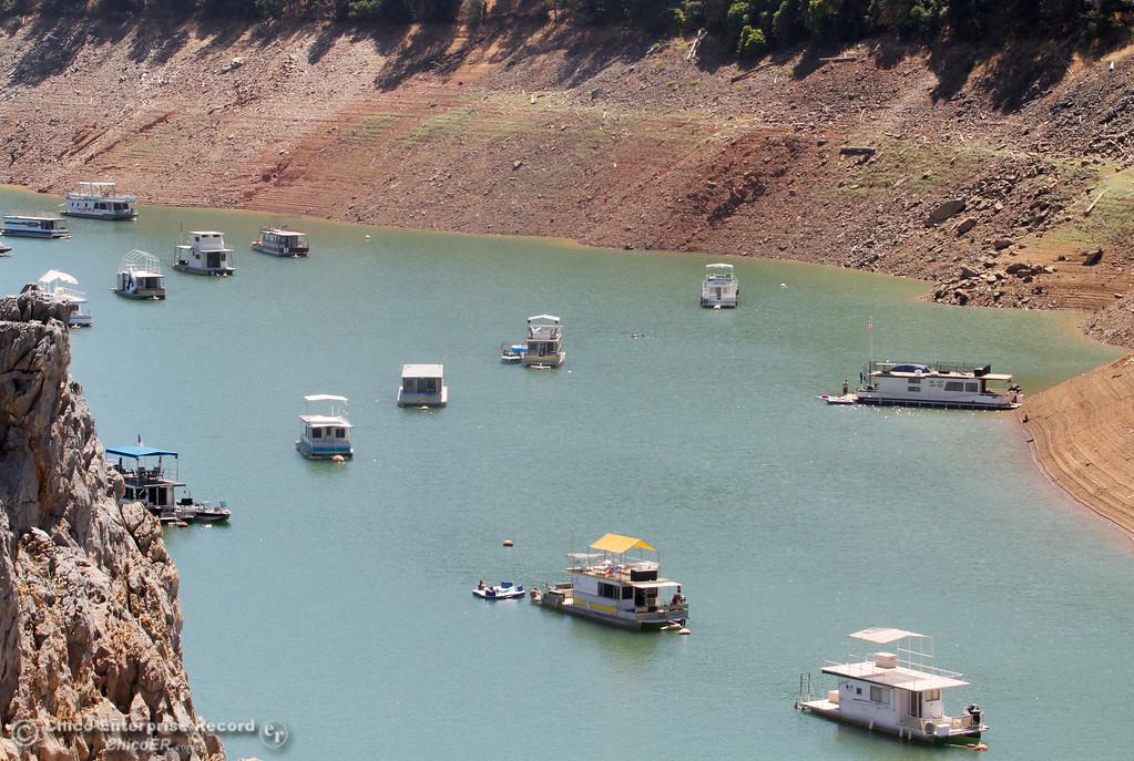 . The lake level seem from Lime Saddle Marina Saturday July 29, 2017 in Paradise, California. (Emily Bertolino -- Enterprise- Record)