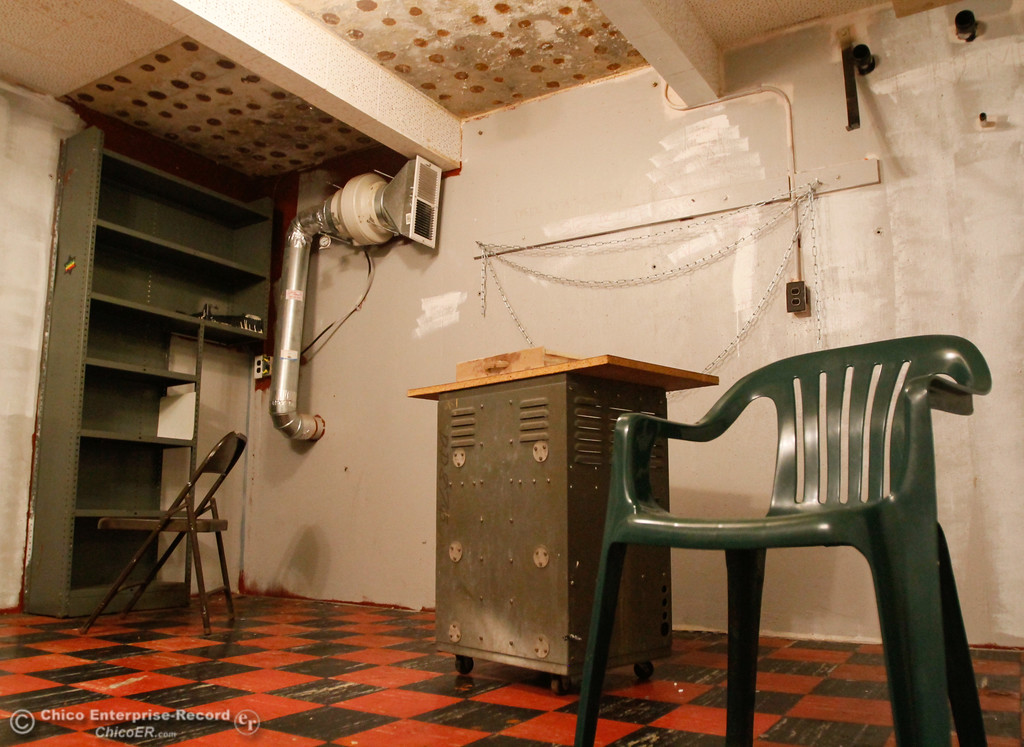 . The 1960s era bomb shelter is approximately 150 square feet and made with 15 inch reinforced concrete Thursday July 27, 2017 in Chico, California. (Emily Bertolino -- Enterprise-Record)