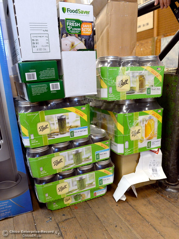 . Canning supplies are available at Collier Hardware in Chico, Calif. Tues. Aug. 8, 2017. (Bill Husa -- Enterprise-Record)