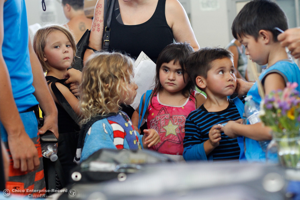 . Students pick up school supplies, clothes, connect with local resources and get haircuts during the Back to School Connect even organized by School Ties at the Butte County Office of Education Tuesday August 8, 2017 at Chico Junior High School in Chico, California. (Emily Bertolino -- Enterprise- Record)