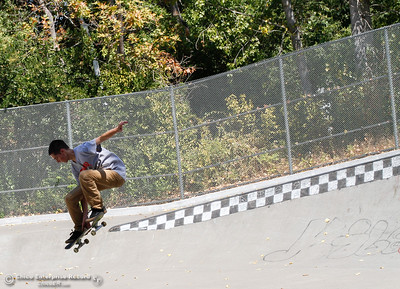 Garrison Savage from Paradise sails through the air on his skateboard August 17, 2016 at the Humboldt Skate Park in Chico, Calif. Savage says they deal, but the park could be a lot better. (Emily Bertolino -- Enterprise-Record)