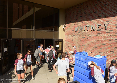 Chico State students who live in university housing move in to the dorms Thursday, Aug. 17, 2016, at the campus in Chico, California. (Dan Reidel -- Enterprise-Record)