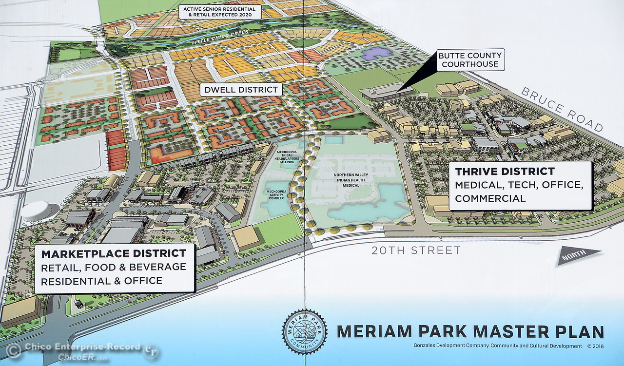 Work is underway on various projects within the Meriam Park development Tues. Aug. 1, 2017. (Bill Husa -- Enterprise-Record)