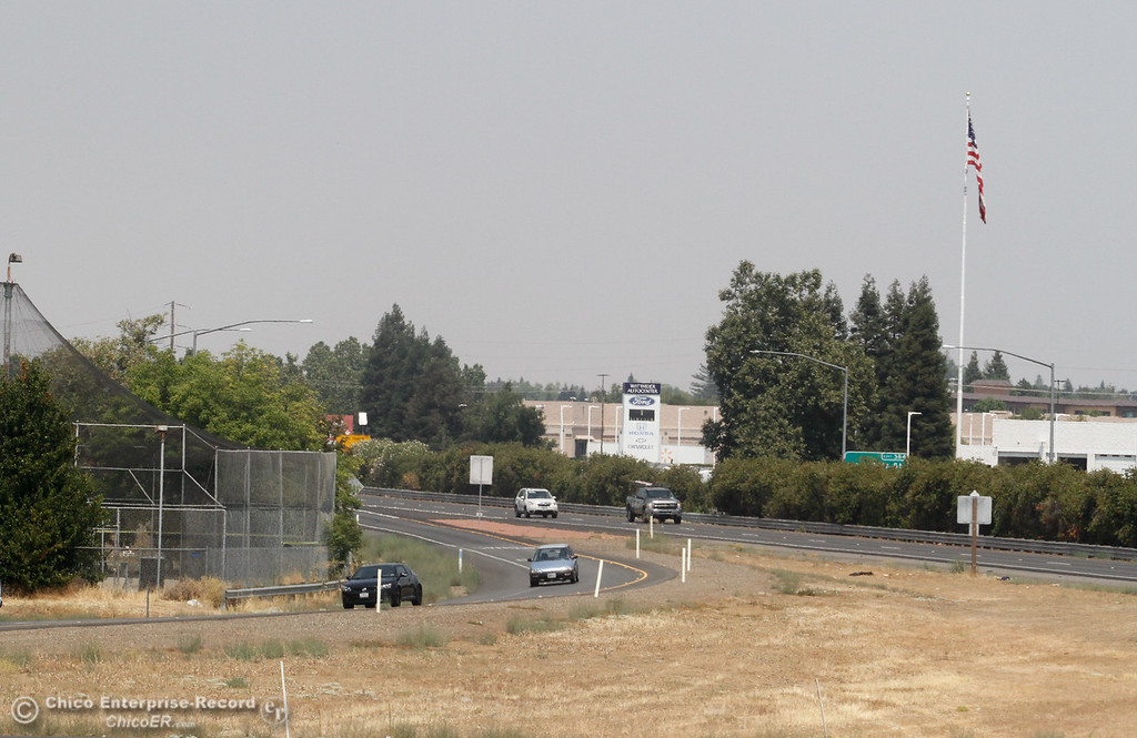 . A thick wall limits viability as air quality is predicted to be unhealthy again today in Paradise and the Butte County foothills ozone will build up at foothill elevations to a level that exceeds health standards Wednesday August 2, 2017 in Chico, California. (Emily Bertolino -- Enterprise- Record)